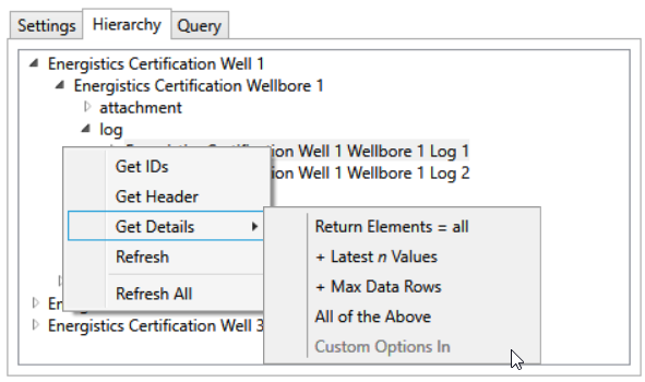 PDS-WITSML-Browser-Hierarchy-Context-Menu